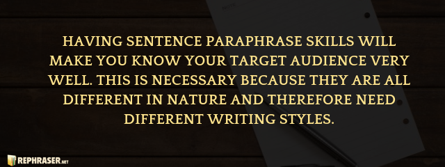 how to rephrase a sentence