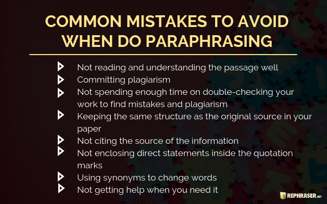 paraphrasing tips and tricks