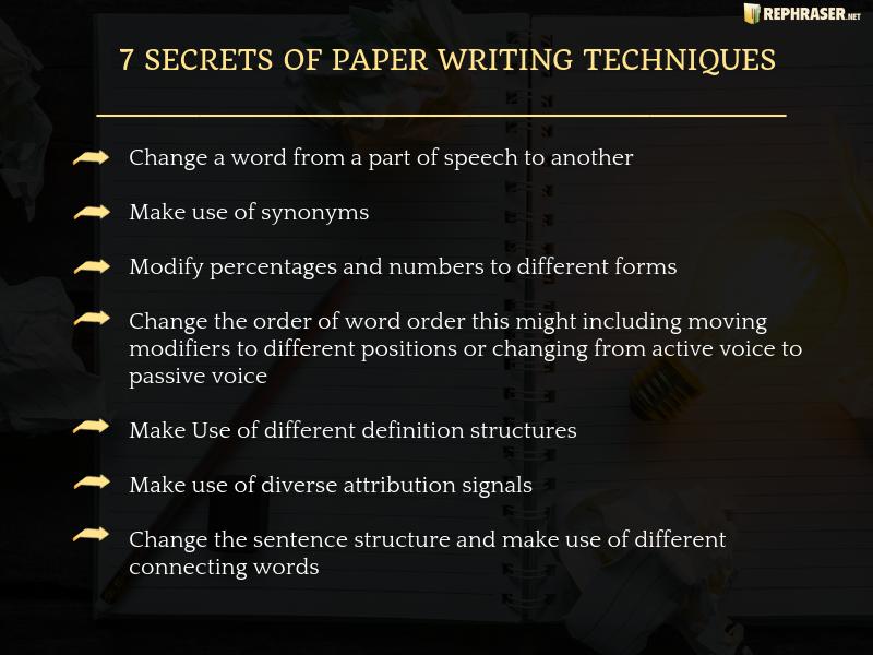 paraphrasing techniques secrets