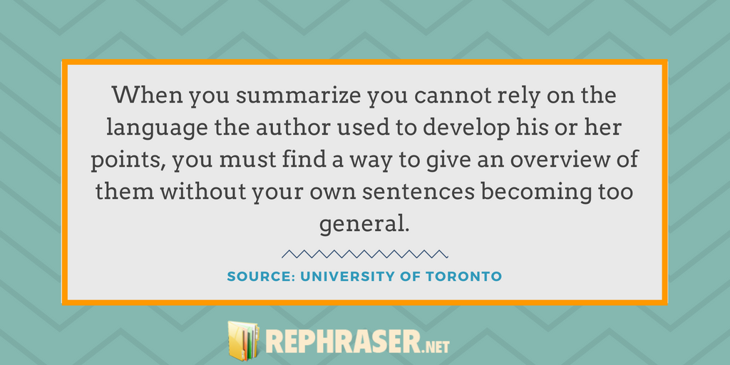 summary writing advice