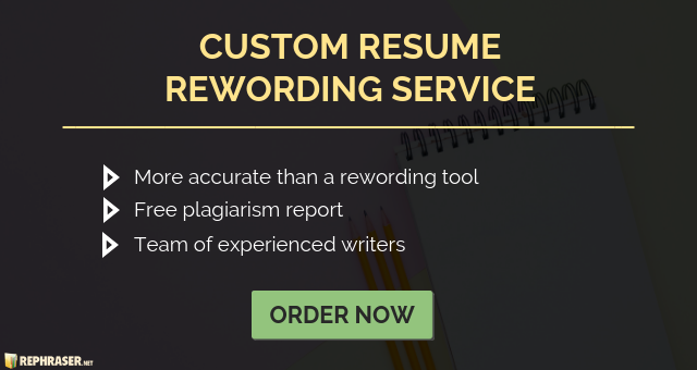 professional resume rewriter online