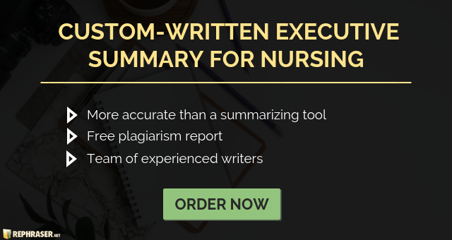nursing executive summary writing