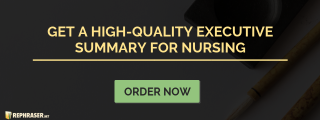 writing an executive summary for nursing
